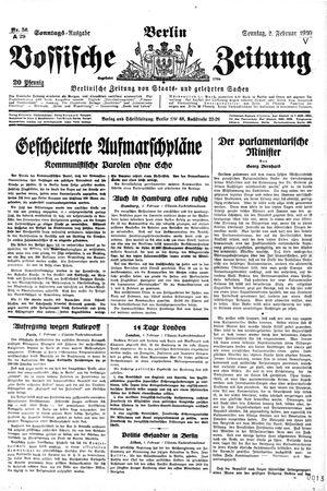 Vossische Zeitung vom 02.02.1930