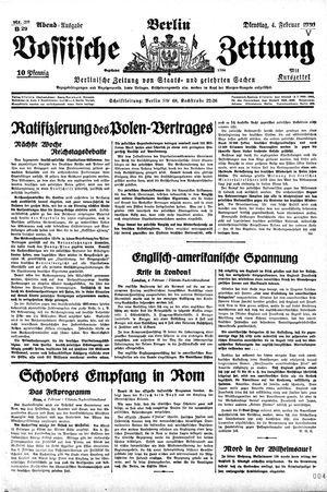 Vossische Zeitung vom 04.02.1930
