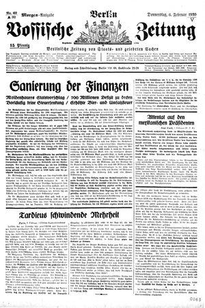 Vossische Zeitung vom 06.02.1930