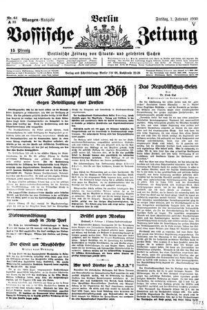 Vossische Zeitung vom 07.02.1930