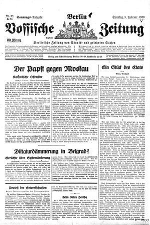 Vossische Zeitung vom 09.02.1930