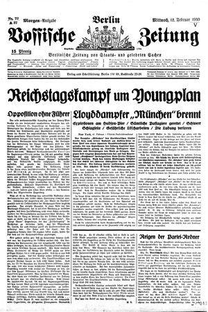 Vossische Zeitung vom 12.02.1930