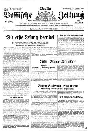 Vossische Zeitung vom 13.02.1930