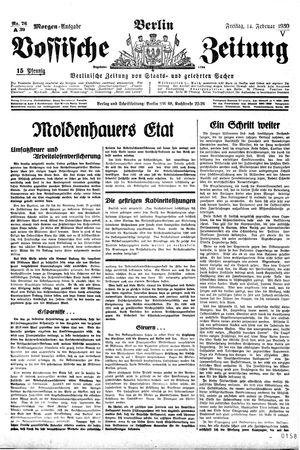 Vossische Zeitung vom 14.02.1930
