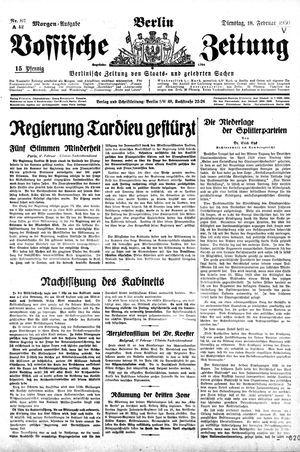 Vossische Zeitung vom 18.02.1930