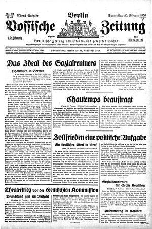Vossische Zeitung vom 20.02.1930