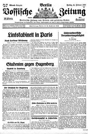 Vossische Zeitung vom 21.02.1930