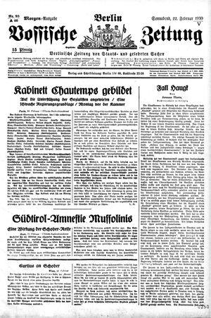 Vossische Zeitung vom 22.02.1930