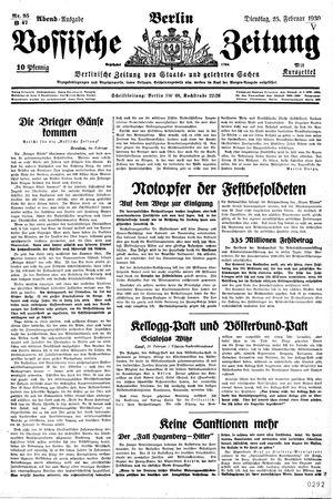 Vossische Zeitung vom 25.02.1930