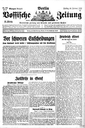 Vossische Zeitung vom 28.02.1930