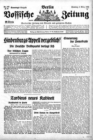 Vossische Zeitung vom 02.03.1930