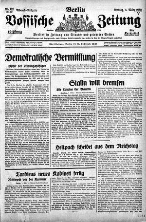 Vossische Zeitung vom 03.03.1930