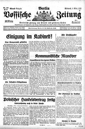Vossische Zeitung on Mar 5, 1930