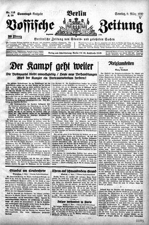 Vossische Zeitung vom 09.03.1930
