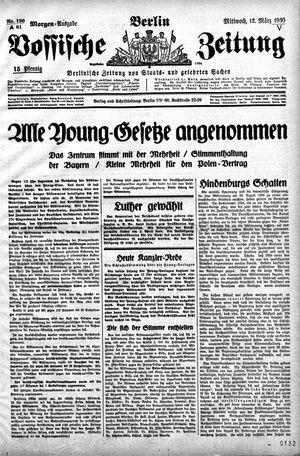 Vossische Zeitung vom 12.03.1930
