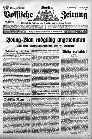 Vossische Zeitung vom 13.03.1930