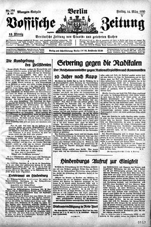 Vossische Zeitung vom 14.03.1930