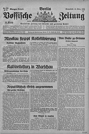 Vossische Zeitung vom 15.03.1930