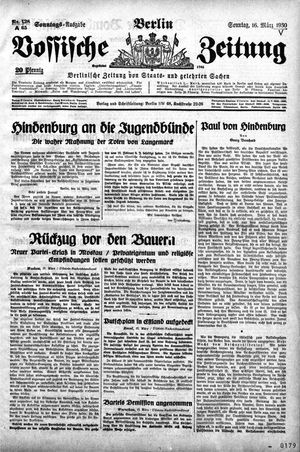 Vossische Zeitung vom 16.03.1930