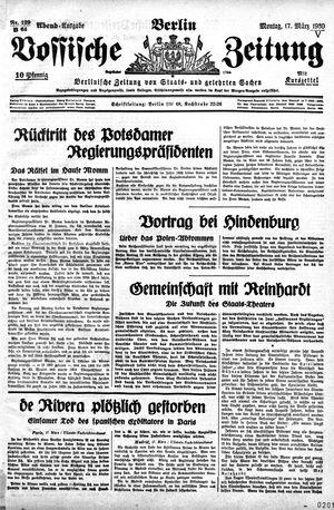 Vossische Zeitung vom 17.03.1930