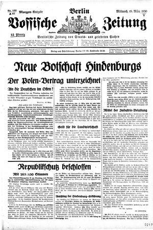 Vossische Zeitung vom 19.03.1930