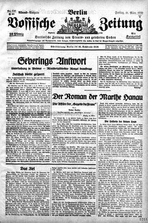 Vossische Zeitung vom 21.03.1930