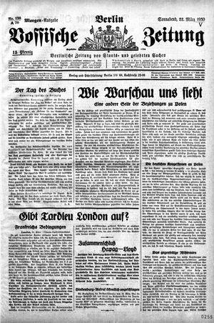 Vossische Zeitung vom 22.03.1930