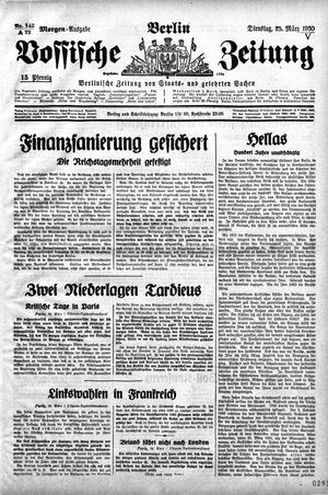 Vossische Zeitung vom 25.03.1930