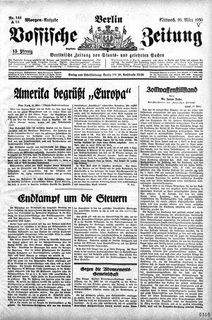 Vossische Zeitung vom 26.03.1930