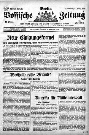 Vossische Zeitung vom 27.03.1930