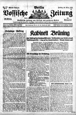 Vossische Zeitung vom 28.03.1930
