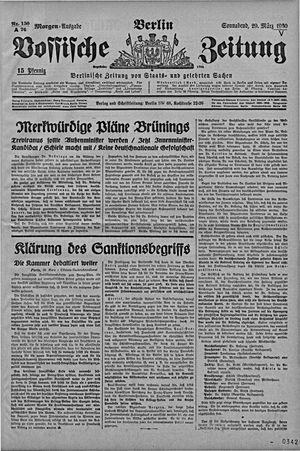Vossische Zeitung vom 29.03.1930