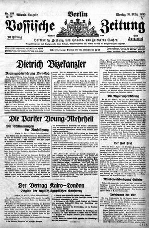 Vossische Zeitung vom 31.03.1930