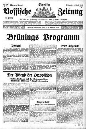 Vossische Zeitung vom 02.04.1930