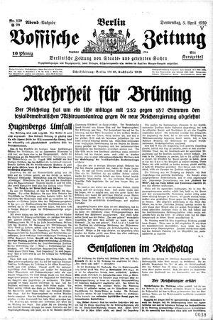 Vossische Zeitung vom 03.04.1930