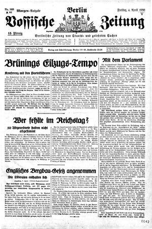 Vossische Zeitung vom 04.04.1930