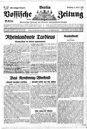 Vossische Zeitung vom 06.04.1930
