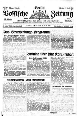 Vossische Zeitung vom 07.04.1930