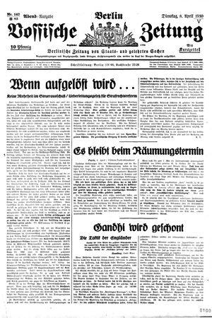 Vossische Zeitung vom 08.04.1930