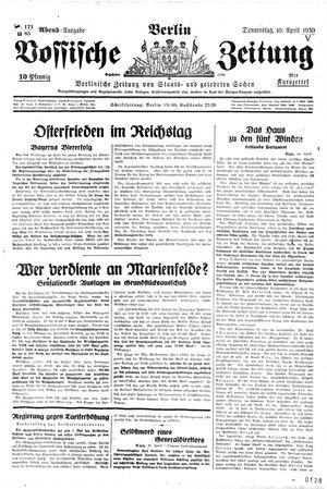 Vossische Zeitung vom 10.04.1930