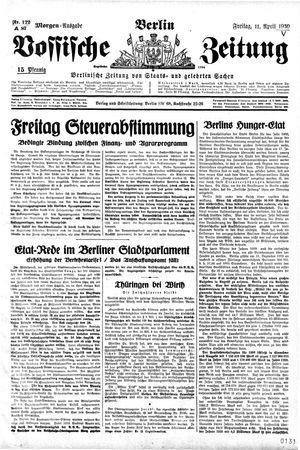 Vossische Zeitung on Apr 11, 1930