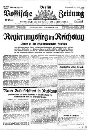 Vossische Zeitung vom 12.04.1930