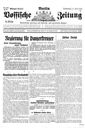 Vossische Zeitung vom 17.04.1930