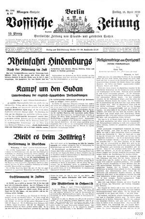 Vossische Zeitung vom 18.04.1930