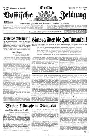 Vossische Zeitung vom 20.04.1930