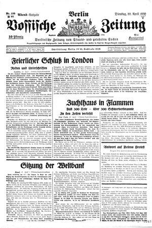 Vossische Zeitung vom 22.04.1930