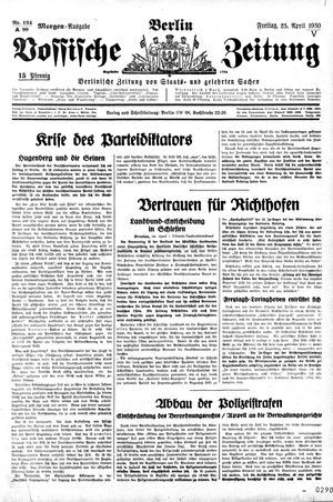 Vossische Zeitung vom 25.04.1930