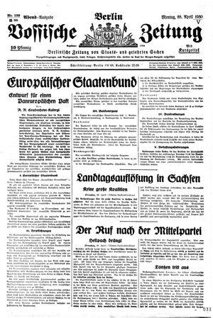 Vossische Zeitung vom 28.04.1930
