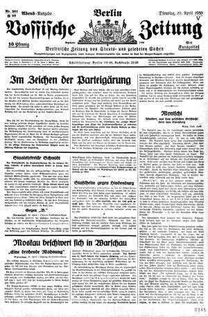 Vossische Zeitung vom 29.04.1930