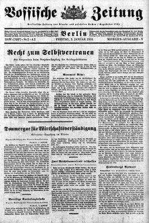 Vossische Zeitung on Jan 2, 1931